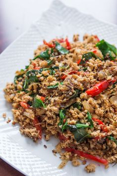 """Vegan Basil """"Chicken"""" - Sub Fish Sauce for White Soy Sauce if you can't find it.  Amazing flavors!"""