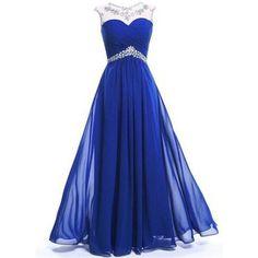 SimpleDressUK Long Chiffon Evening Party Prom Dress Floor-Length Dresses