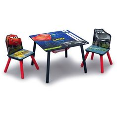 Kids Storage, Table Storage, Built In Storage, Disney Cars, Car Table, Pool Table, Toddler Table And Chairs, Kids Room Furniture, Bookshelves Kids
