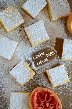 Winter Citrus Bars are sweet and slightly tart with all the flavors of delicious winter citrus!