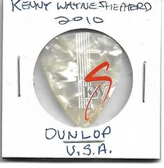 Kenny Wayne Shepherd Sig. Ser Tour Guitar Pick Chicago,il 2010 Dunlop Pearl WHT  #Dunlop #SignatureSeries