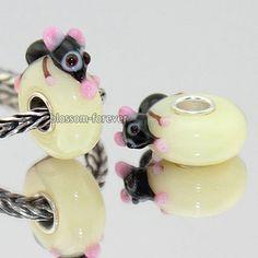 2pcs Mouse Animal Murano Lampwork Glass Bead Fit European Charm Bracelet Q028 | eBay