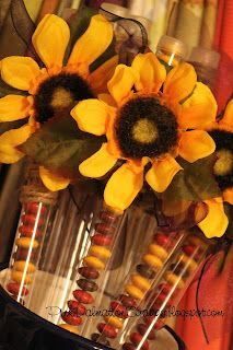 sunflower candy party favors!