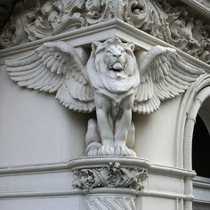 Idea for a tattoo for Zeke... lion for protection - winged lion because it is cool! (Has something to do with the bible, but I'm cool with that) Can Google a more front on version...