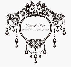 black vintage frame design. Clip Fancy Flowers Floral Oval Frame Design Vectors Tattoo Picture Black Vintage C
