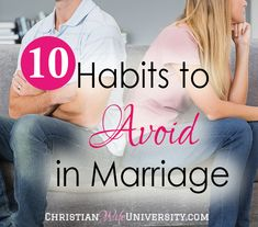 Habits. We all have them. Some are good and some are not so good. Being that I love contrast when learning, I thought I'd share with you a list of habits that I avoid in my marriage and the reasons why I do so, (all from a biblical perspective of course!) Click here to follow me … … Continue reading →
