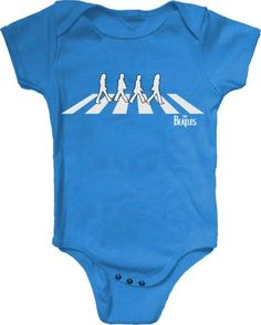 6028e4155f6 Amazon.com: Bravado The Beatles Abbey Road Silhouette Blue Infant Baby Rock  and Roll