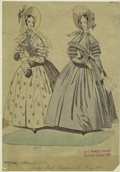 Lady's book fashions, May 1838.