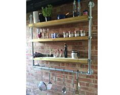 Industrial Style Mounted Shelving by DeuleyDesigns on Etsy