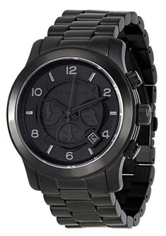 8b1d3e1c04a0 A 100mm water resistance power makes Michael Kors Blacked Out Runway  Chronograph MK8157 Men s Watch