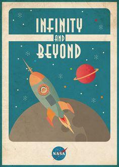 To Infinity And Beyond Nasa Vintage Retro Metal Tin Sign Poster Wall Plaque Vintage Space, Retro Vintage, Vintage Hawaii, Digital Printing Services, Space Rocket, Poster Design, Flyer Design, Space Theme, To Infinity And Beyond