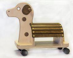 Tour en bois de lenfant sur chien par JohnFoxDesigns sur Etsy