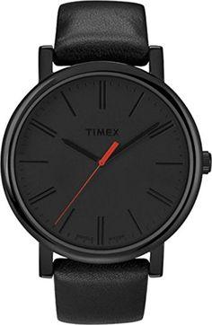 Timex - Unisex - T2N794D7 - Quartz Analogique - Noir - Noir - Cuir 2017 #2017, #Montresbracelet http://montre-luxe-homme.fr/timex-unisex-t2n794d7-quartz-analogique-noir-noir-cuir-2017/