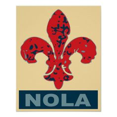 Shop Fleur De Lis NOLa Poster created by figstreetstudio. Personalize it with photos & text or purchase as is! Leis, Louisiana Art, New Orleans Art, Custom Posters, Custom Framing, Street Art, Print Design, Art Prints, Creative