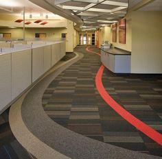 Carpet tile floor patterns