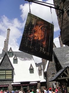 Wizarding World of Harry Potter - Hog's Head pub sign by Pop Culture Geek, via Flickr