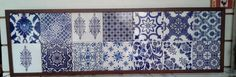 Painel para 14 azulejos tamanho 15.5x15.5 cm