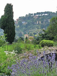 Vue de la Haute-ville Bergamo, Italie