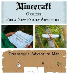 Here's how to create a minecraft inspired treasure hunt to get your kids off the computer and into the backyard.