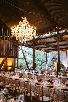 French Glam Barn Reception | Leo Evidente | Chic Parisian Wedding in a Rustic Barn