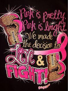 Breast Cancer Awareness T-Shirt - Live