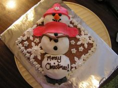 SnowMan Cake/Cupcakes _ #Baking #Holiday Traditions #Foods