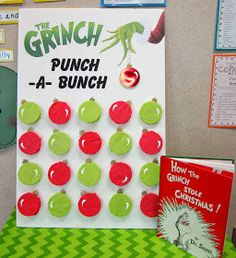 Grinch Punch-A-Bunch Game Board Inspiration                                                                                                                                                     More