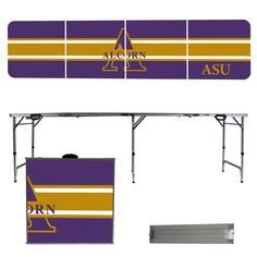 Alcorn State Braves 8 Foot Portable Tailgate and Pong Table