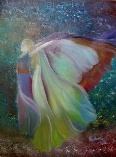 Butterfly, óleo sobre tela