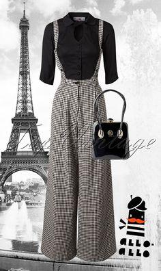 from TopVintage Vintage & Retro Boutique online Vintage Fashion, Retro, Polyvore, Outfits, Image, Clothes, Black, Suits, Clothing