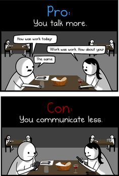 The pros and cons of living with your significant other - The Oatmeal