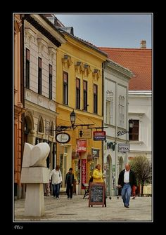 Old town of Pecs, Baranya_ West Hungary where my mother is from. Pecs Hungary, Danube River, Medieval Castle, Central Europe, Old Town, Budapest, Places Ive Been, Street View, Journey