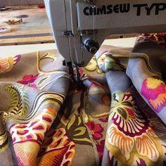 Sewing up some beautiful cushions in Warwick Fabric linen. Warwick Fabrics, Soft Furnishings, Cushions, Sewing, Beautiful, Throw Pillows, Toss Pillows, Dressmaking, Couture