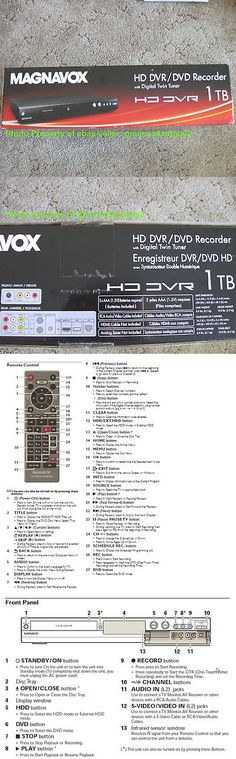 DVRs Hard Drive Recorders: Hdtv Up-Conversion 1080P Dvr Dvd Burner Recorder Combo W Tuner Vcr Player Repla -> BUY IT NOW ONLY: $476 on eBay!