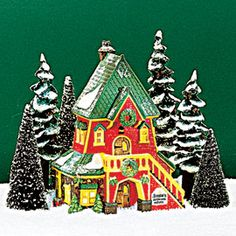 """Department 56: Products - """"Santa's Rooming House"""" - retired 1999"""