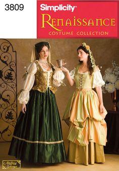 Womens RenaissanceCostume Sewing Pattern 3809 Simplicity