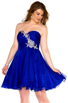 short royal blue bridesmaid dresses   Ideal Weddings