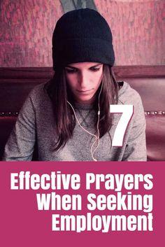 Effective Prayers when seeking a job, employment