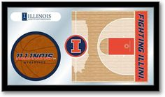 Illinois Fighting Illini Basketball Team Sports Mirror at SportsFansPlus.com. Visit website for details!