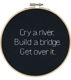 Say It! in cross stitch-Cry a River