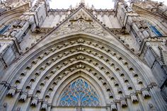 Gothic Cathedral, Barcelona, Spain. August 2015