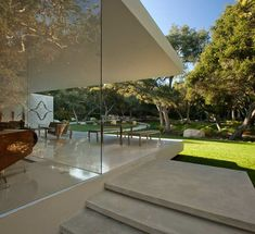 Known for his modern designs, Los-Angeles-based architect Steve Hermann has completed The Glass Pavilion in 2010. Located on a three-and-a-half acres lot in Santa Barbara, California, the 13,875 square foot luxury home features five bedrooms, five-and-a-half bathrooms, a kitchen with a wine room and an art gallery that displays the architect's vintage car collection. The architect originally …