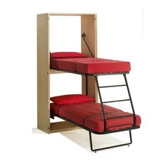 Murphy Bunk Beds ~ 11 Space Saving Fold Down Beds for Small Spaces, Furniture Design Ideas. Great way to add kid beds in our travel trailer! Small Room Furniture, Small Room Decor, Space Saving Furniture, Furniture Design, Furniture Ideas, Folding Furniture, Modern Furniture, Multifunctional Furniture Small Spaces, Bedroom Furniture