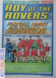 Roy of the Rovers Weekly Comic Covers Gallery 1978