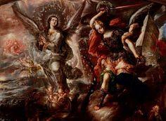 Cristóbal de Villalpando, Virgen del Apocalipsis, Óleo sobre tela, Museo Bello y González, Puebla. Foto de Tach. Jrez. Hra. en Flickr