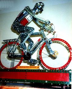 Meccano Cyclist by John Bridger