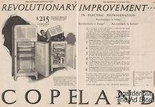 1926 Copeland Products Detroit MI Electric Refrigerator 1920s Kitchen Decor Ad