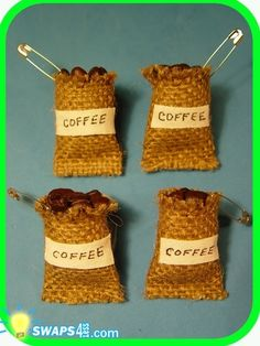 Cute coffee bag swaps