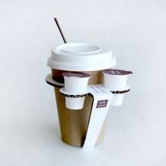 Paper Coffee Cup Handles- Now this is just fun