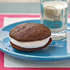 Chocolate Sandwich Cookies with Marshmallow Cream Filling | CookingLight.com